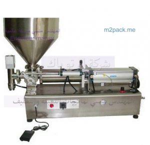 مكينة تعبئة المربيات والكريمات وكل السوائل اللزجه